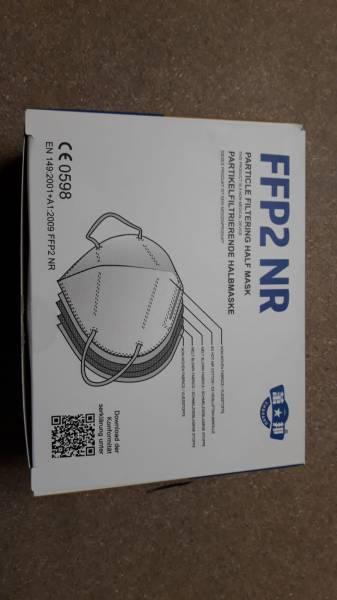 FFP2 Maske Weiß Mundschutz VERIFIZIERT CE 0598